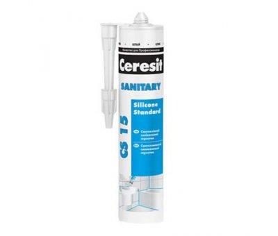 Герметик силиконовый санитарный Ceresit прозрачный (280ml) CS-15