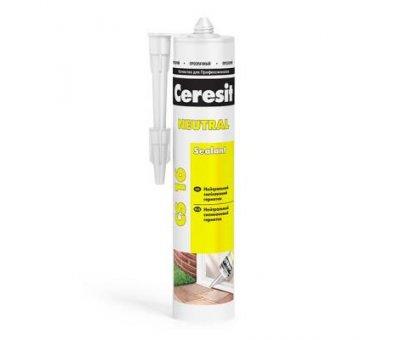Герметик силиконый универсальный Ceresit нейтральный (280ml) CS16