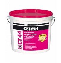Фасадная краска акриловая супер Ceresit CT-44, 10л