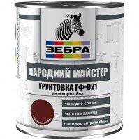 Грунтовка по металлу  ГФ-021 ЗЕБРА 11, белая, 0.9 кг