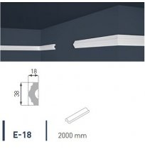 Плинтус потолочный экструдированный 2м LUX Е-18