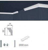 Плинтус потолочный экструдированный 2м LUX Е- 2