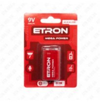 Батарейка Etron Mega 9V / 6LR61 (1шт)