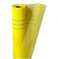 Сетка штукатурная 5х5 фасадная 160г/м2 желтая (1м) Budmonster