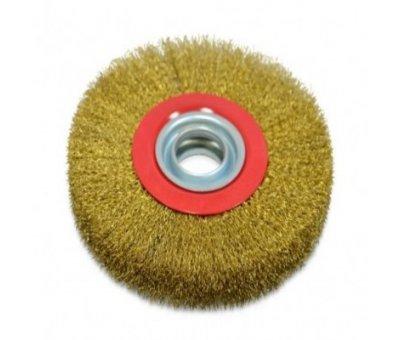 Щетка-крацовка утолщенный дисковая латунная 200 мм