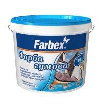 Краска резиновая черная 1,2 кг Farbex