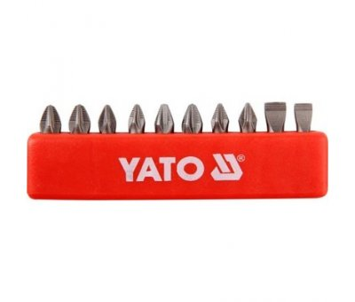 Насадки на отвертку Yato набор 10 шт. х 25 мм.