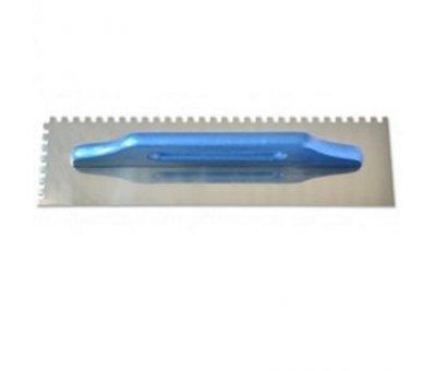 "Гладилка нержавеющая, тип ""Швед"", зуб 8 х 8 мм, 130 х 480 мм."