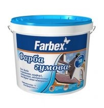 Краска резиновая серая 12 кг Farbex