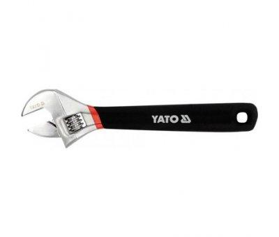Ключ разводной с резиновой ручкой Yato l = 200 мм