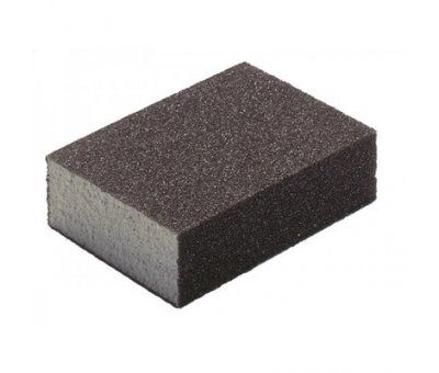Губка абразивная шлифовальная Р36 / 80, 100 х 70 х 25мм HARDY