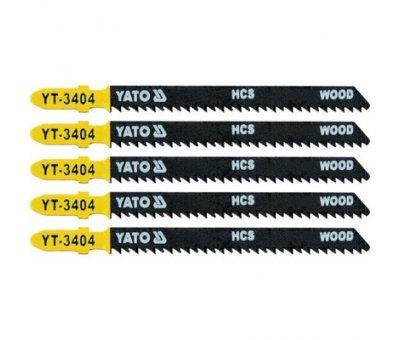 Пилка для електролобзика (дерево) L-100 мм,10TPI YATO