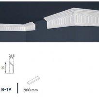Плинтус потолочный экструдированный 2м B-19