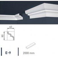 Плинтус потолочный экструдированный 2м LUX Е- 9