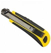 Нож укрепленный, резиновая ручка, 18 мм, FAVORIT