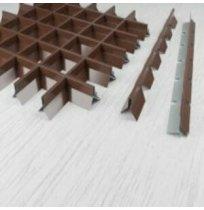 Профиль Грильято пирамидальный продольный 2400мм RAL8017 (коричневый)