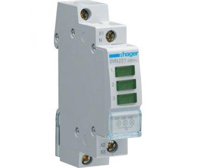 Индикатор LED зеленый 3P, Hager