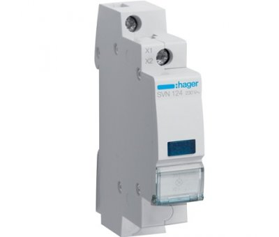 Индикатор LED синий 1P, Hager