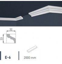 Плинтус потолочный экструдированный 2м LUX Е- 6
