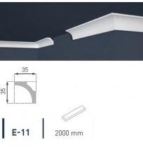 Плинтус потолочный экструдированный 2м LUX Е-11
