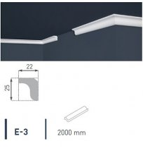 Плинтус потолочный экструдированный 2м LUX Е- 3