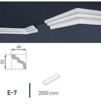 Плинтус потолочный экструдированный 2м LUX Е- 7
