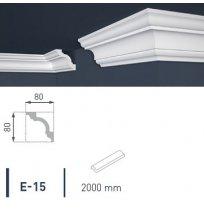 Плинтус потолочный экструдированный 2м LUX Е-15