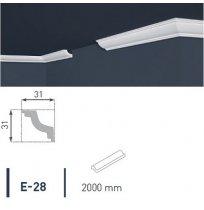 Плинтус потолочный экструдированный 2м LUX Е-28