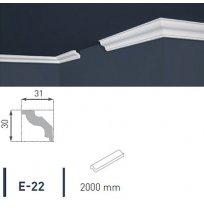 Плинтус потолочный экструдированный 2м LUX Е-22
