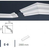 Плинтус потолочный экструдированный 2м LUX Е- 8