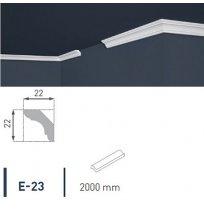 Плинтус потолочный экструдированный 2м LUX Е-23