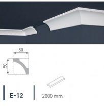 Плинтус потолочный экструдированный 2м LUX Е-12