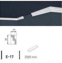 Плинтус потолочный экструдированный 2м LUX Е-17