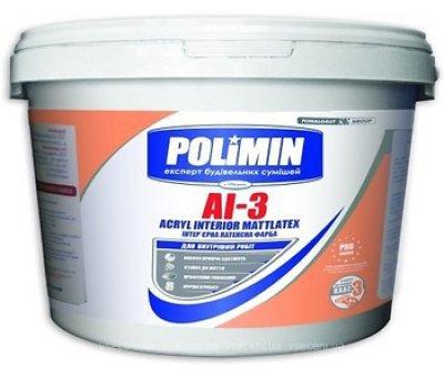 Интерьерная латексная краска Полимин AI-3, 10л