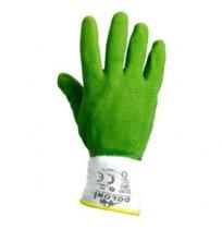 """Перчатки рабочие, полный облил, зеленые, латекс, ТМ """"Doloni""""."""