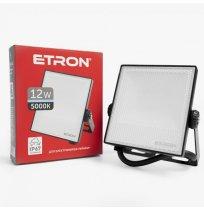 Прожектор 12W 5000K IP67 Etron черный