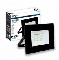 Прожектор 50W 6400K IP65 Feron черный