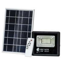 Ппрожектор 10W+солнеч.бат 6400K IP65 Horoz черний
